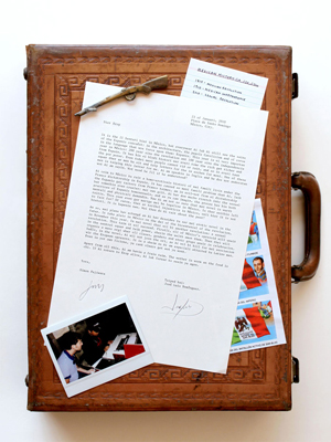 Simon Fujiwara, Letter from Mexico (Briefcase) (2010), Courtesy of the artist