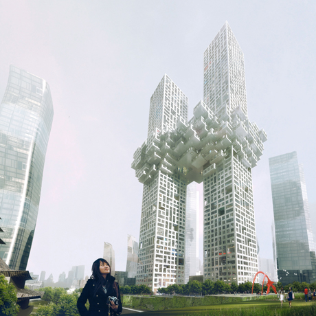 MVRDV 'Cloud' Yongsan Project, Seoul