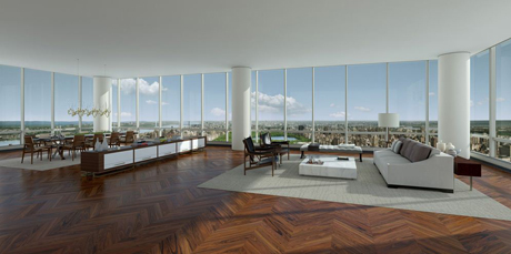Christian de Portzamparc, One 57, interior view of condo