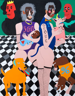 Nina Chanel Abney, Beauty in the Beast (2009), Acrylic on canvas, 139 x 169.5 cm