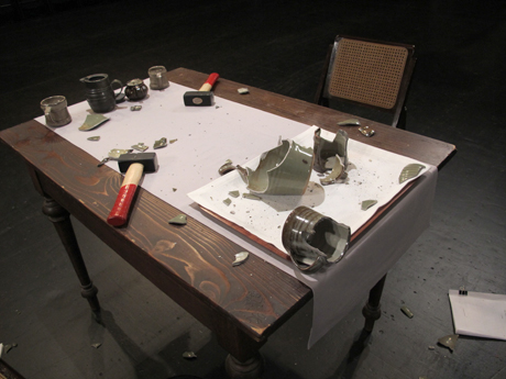 Simon Fujiwara, Rehearsal for a Reunion (with the Father of Pottery) (2011), HD video, colour, sound, 14 min 25 sec, Courtesy the artist