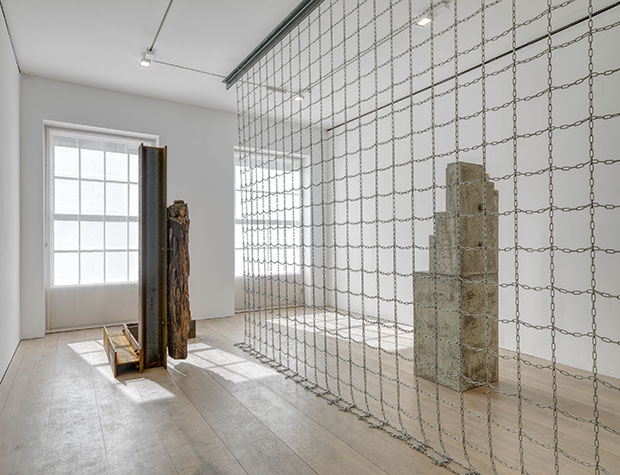 Installation view from the 2015 solo exhibition The Plastic Unit at David Zwirner, London Courtesy David Zwirner, New York/London - Carol Bove