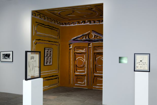Installation view, Whitney Biennial 2012, by Nick Mauss