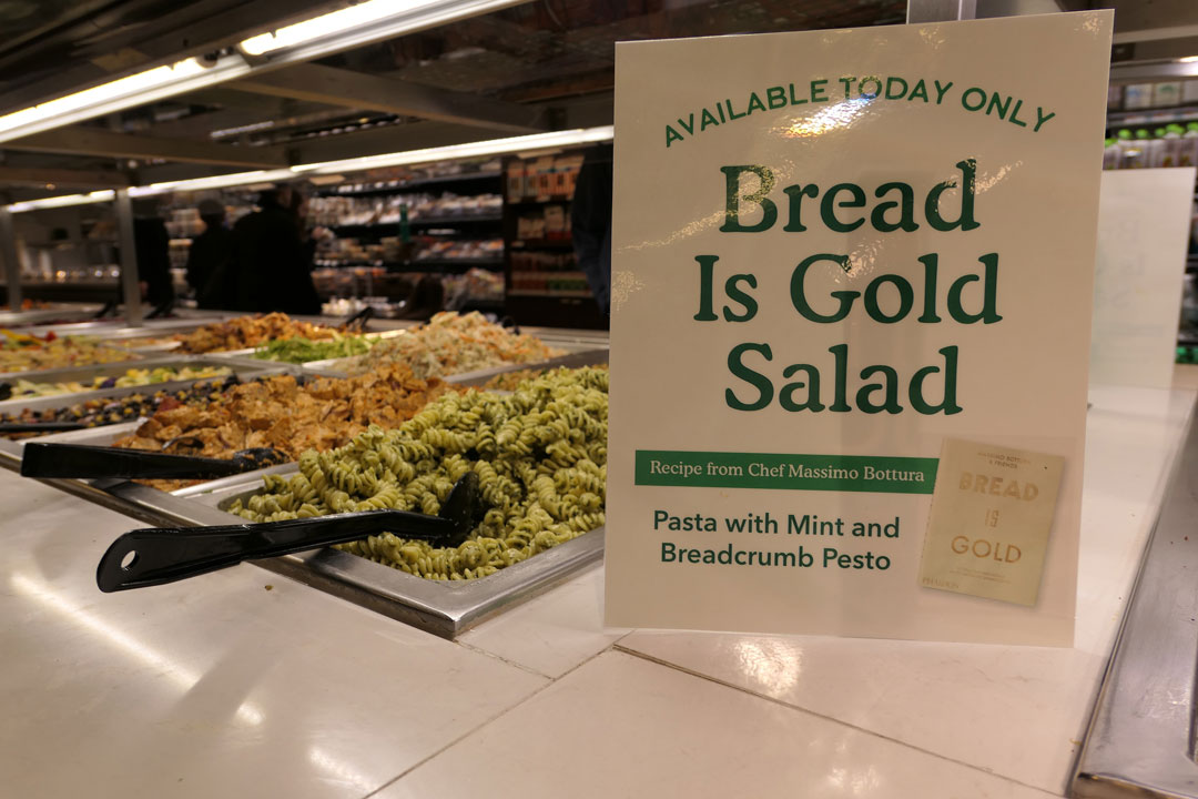 Even the day's salad was in honour of Wholefoods NYC's special guest