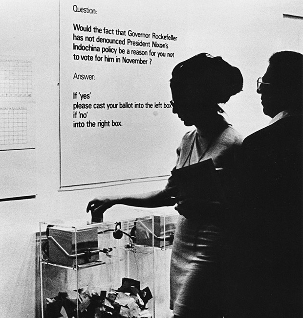 MoMA Poll (1970) by Hans Haacke