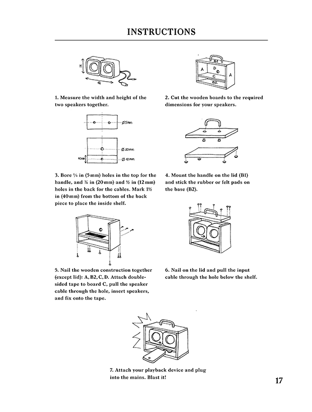 Instructions for Konstantin Grcic. As featured in Do It Yourself