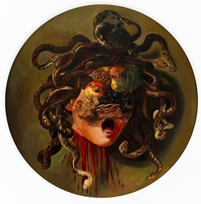 Wolfe von Lenkiewicz, Medusa (2011), Oil on canvas, 169 x 143 cm