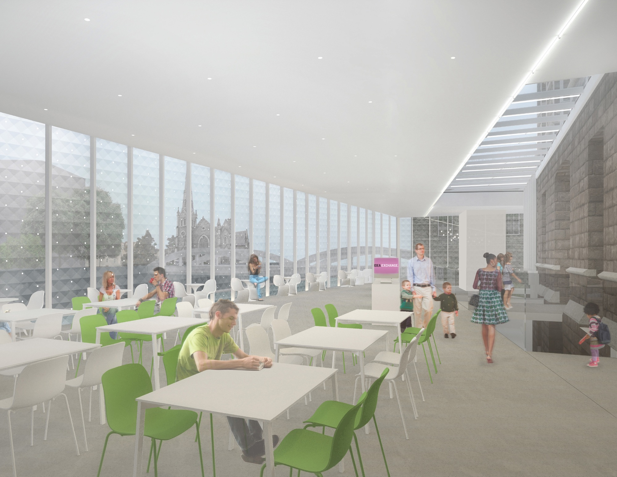 RDH Architects renderings for its new digital library