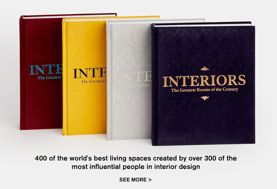 All four covers of our Interiors: The Greatest Rooms of the Century book