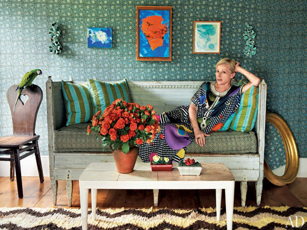 Cindy Sherman poses for Architectural Digest