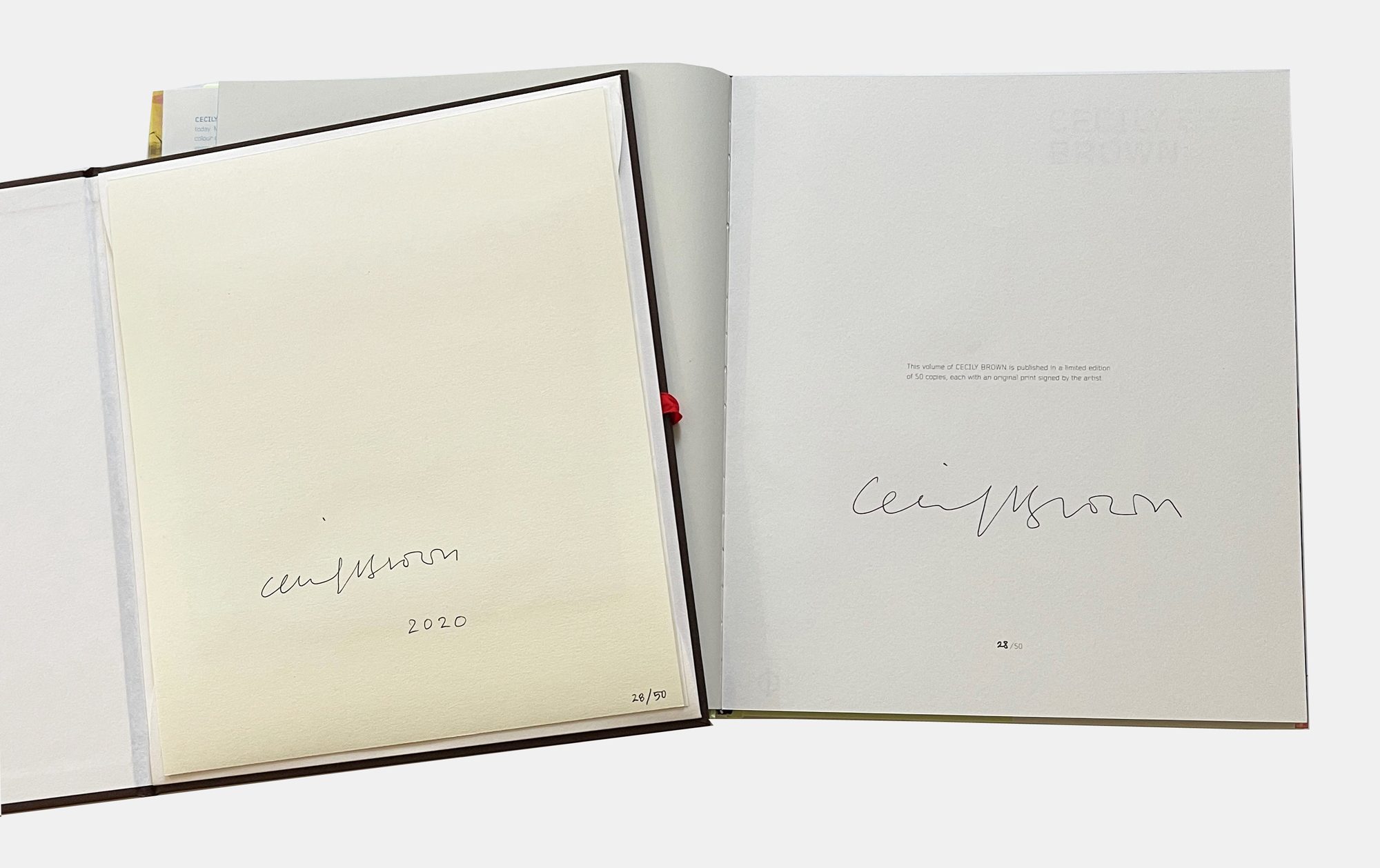 Cecily Brown's signature on the reverse of the edition and in the accompanying Phaidon book