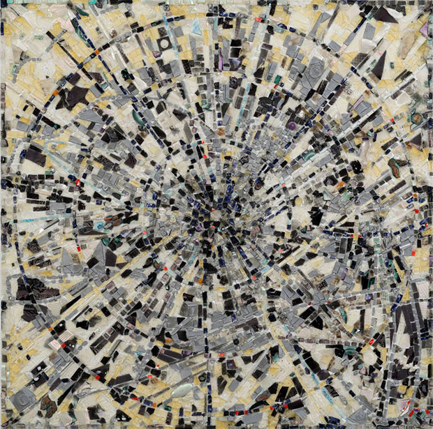 Jack Whitten - Escalation II (x2+y2=1 ) For Alexander Grothendieck, 2014 courtesy the artist