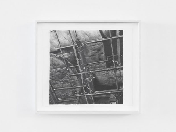HIJK (pipe grid, Gallery), 2015, drawing on paper, 27 x 35 cm, Photo credit: Allard Bovenberg, Amsterdam Courtesy: the Artist and Xavier Hufkens, Brussels