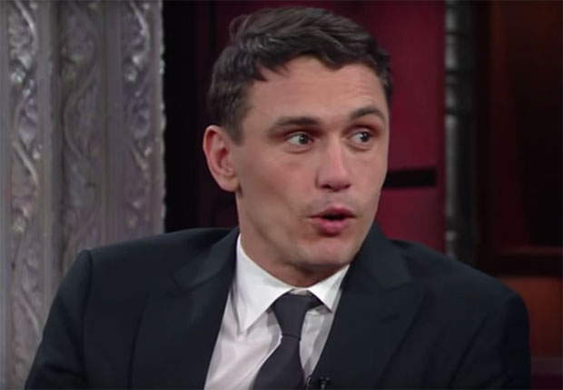 James Franco on The Late Show with Stephen Colbert, December 2016.