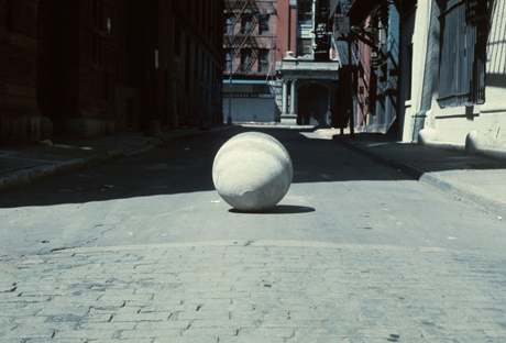 James Nares, Concrete Ball from 1976 Pendulum