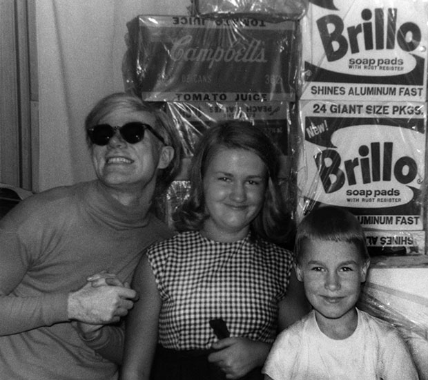 Andy Warhol with niece Mary Lou and nephew Jamie, circa 1964. Photo courtesy of the Warhola Family.