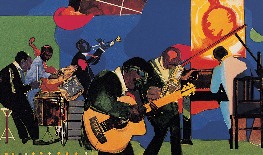 Jamming at the Savoy (1980-81) by Romare Bearden