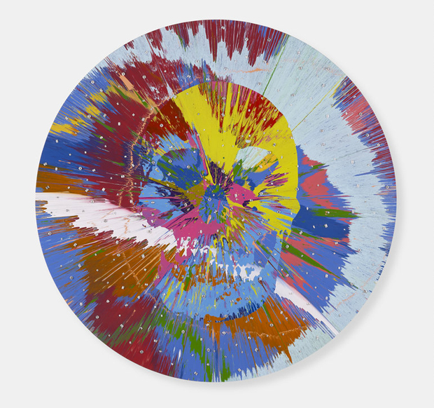 Damien Hirst's Beautiful Morana Dysgeusia Painting for Jarvis (with Diamonds), (2011)