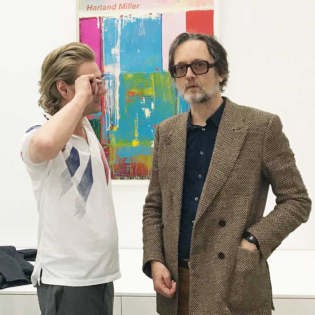 Harland Miller and Jarvis Cocker