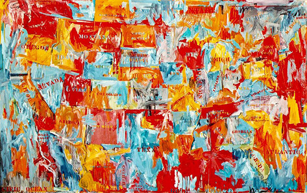 Map 1961 - Jasper Johns - as featured in Map Exploring the World