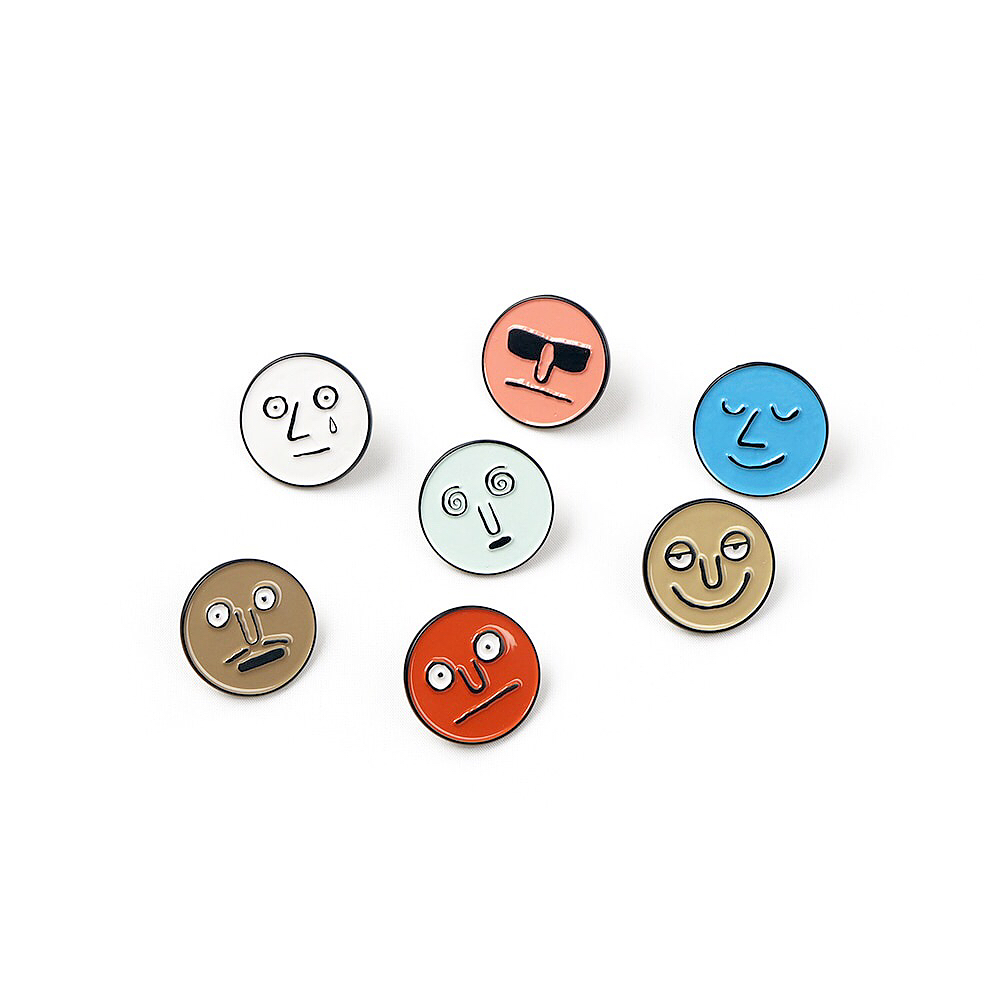 Jean Jullien's new face badge set