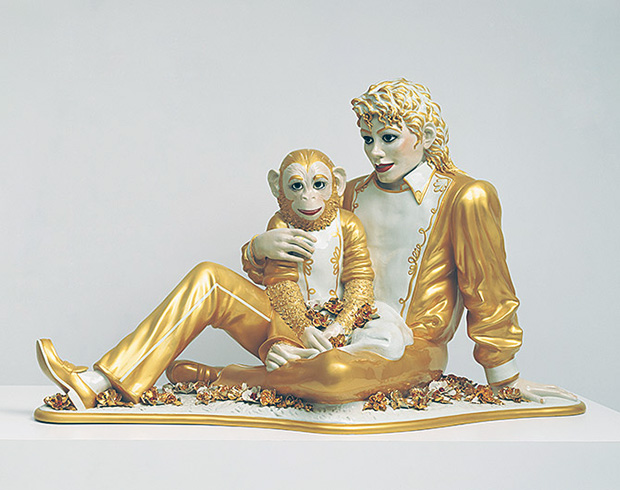 Michael Jackson and Bubbles (1988) by Jeff Koons