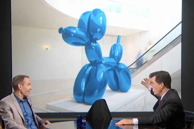 Jeff Koons on the Stephen Colbert Show