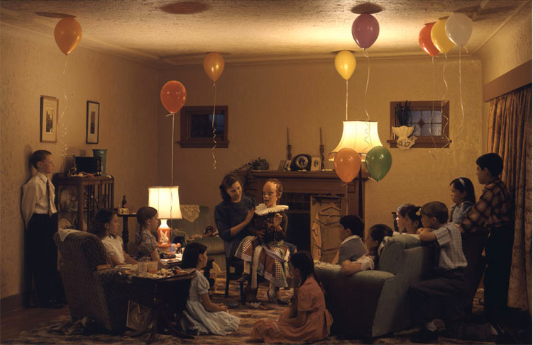 A Ventriloquist at a Birthday Party in October 1947 (1990) by Jeff Wall