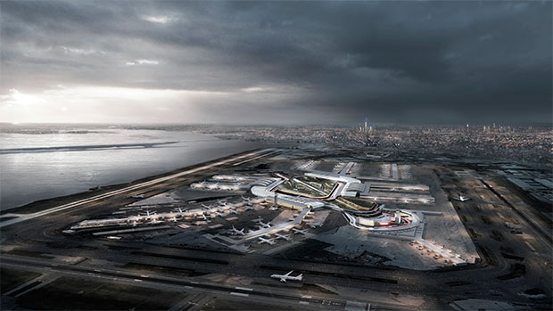 Rendering of the JFK upgrade, courtesy of the New York Governor's office
