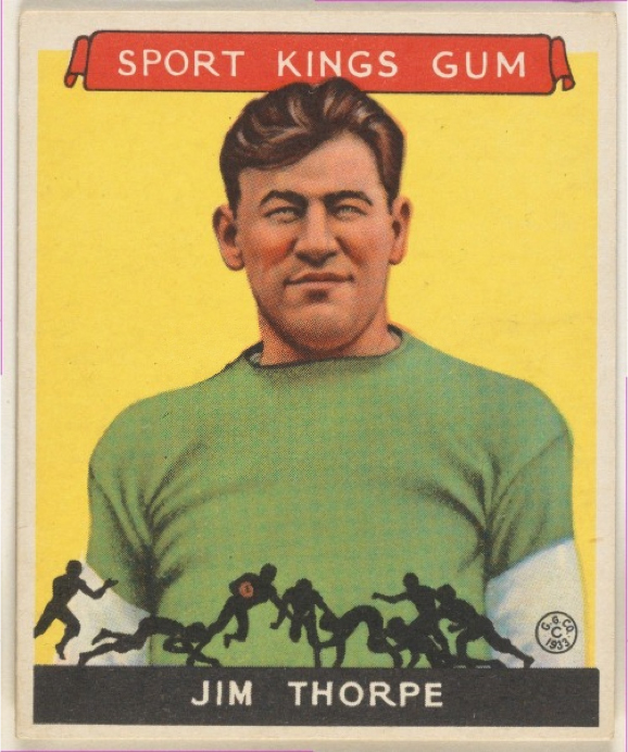 Jim Thorpe, Football Goudey Gum Company (American, Boston, Massachusetts) 1933