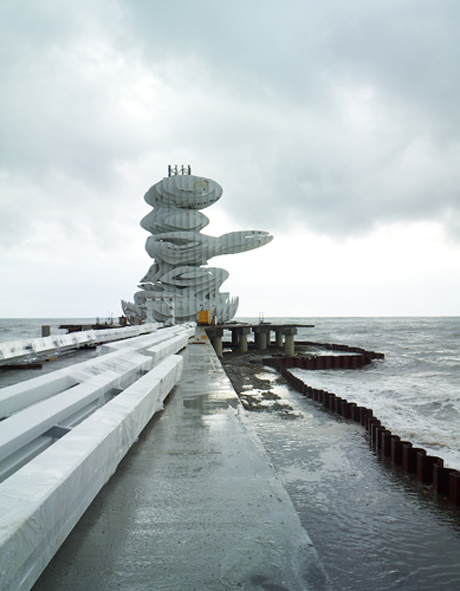 Lazika Pier Sculpture, by J Mayer H architects. Photo by Christoph Eyrich