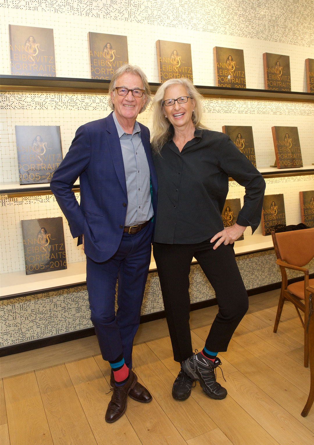 Sir Paul Smith and Annie Leibovitz put their best foot (and socks) forward