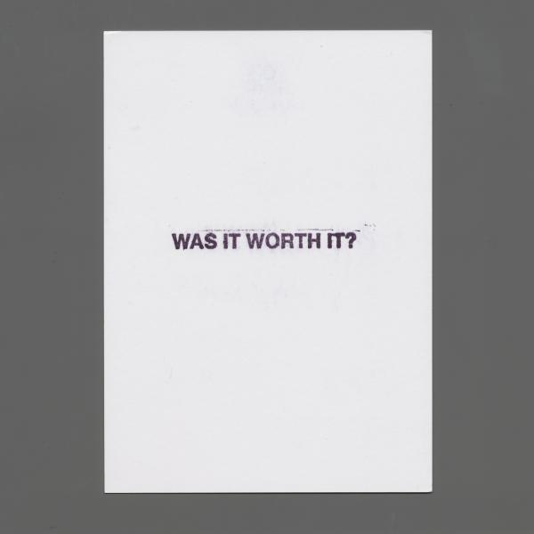 A John Baldessari postcard from the sale in 2013