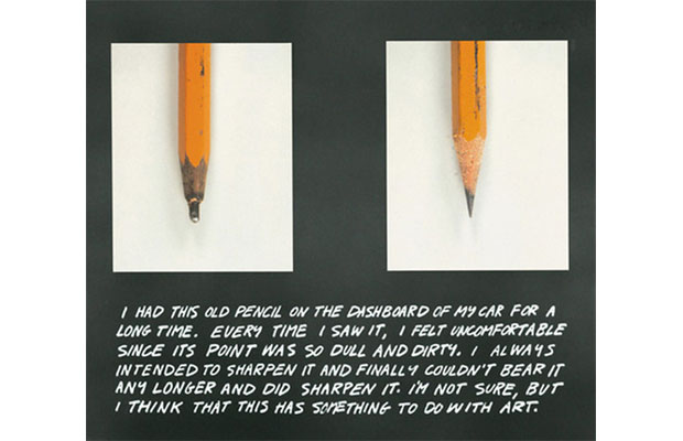 The Pencil Story (1972) by John Baldessari, as reproduced in The Art Book