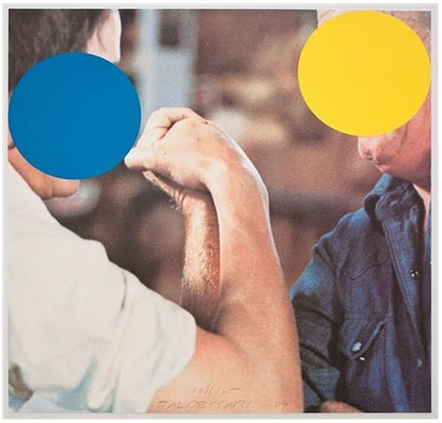 John Baldessari, Two Opponents (Blue & Yellow) (2004)