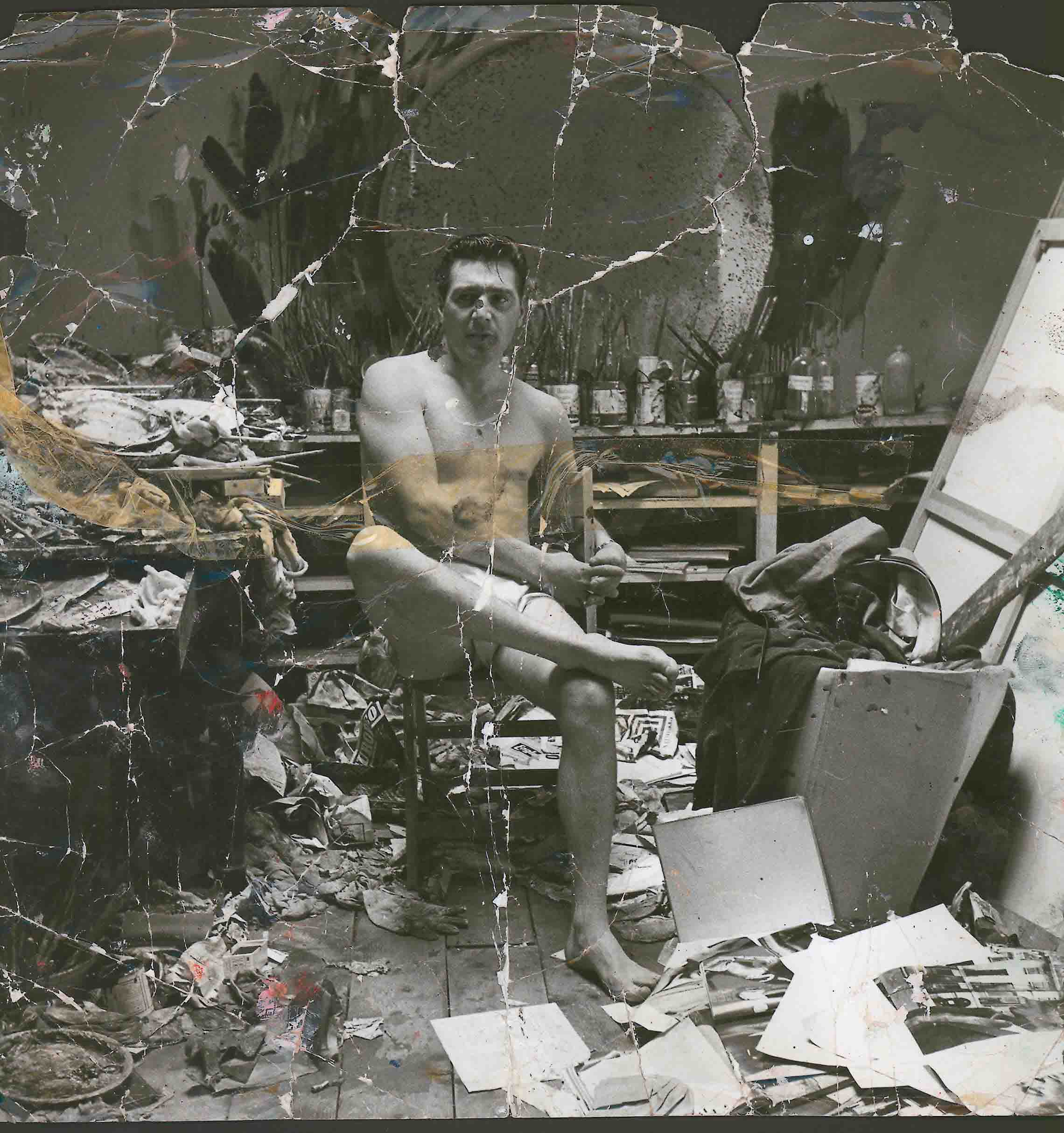 George Dyer in the Reece Mews Studio (c. 1964) by John Deakin