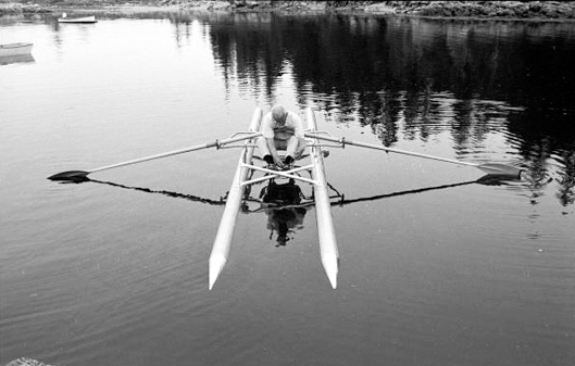 Buckminster Fuller Rowing Needle 1971 - John Loengard