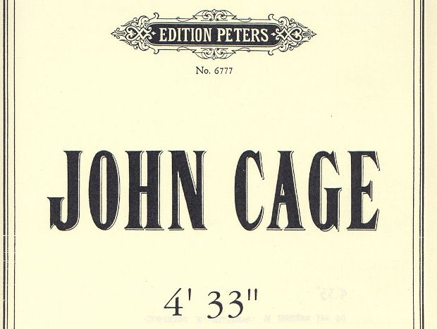 "Detail from the cover of the Edition Peters score for 4'33"" (1960)"