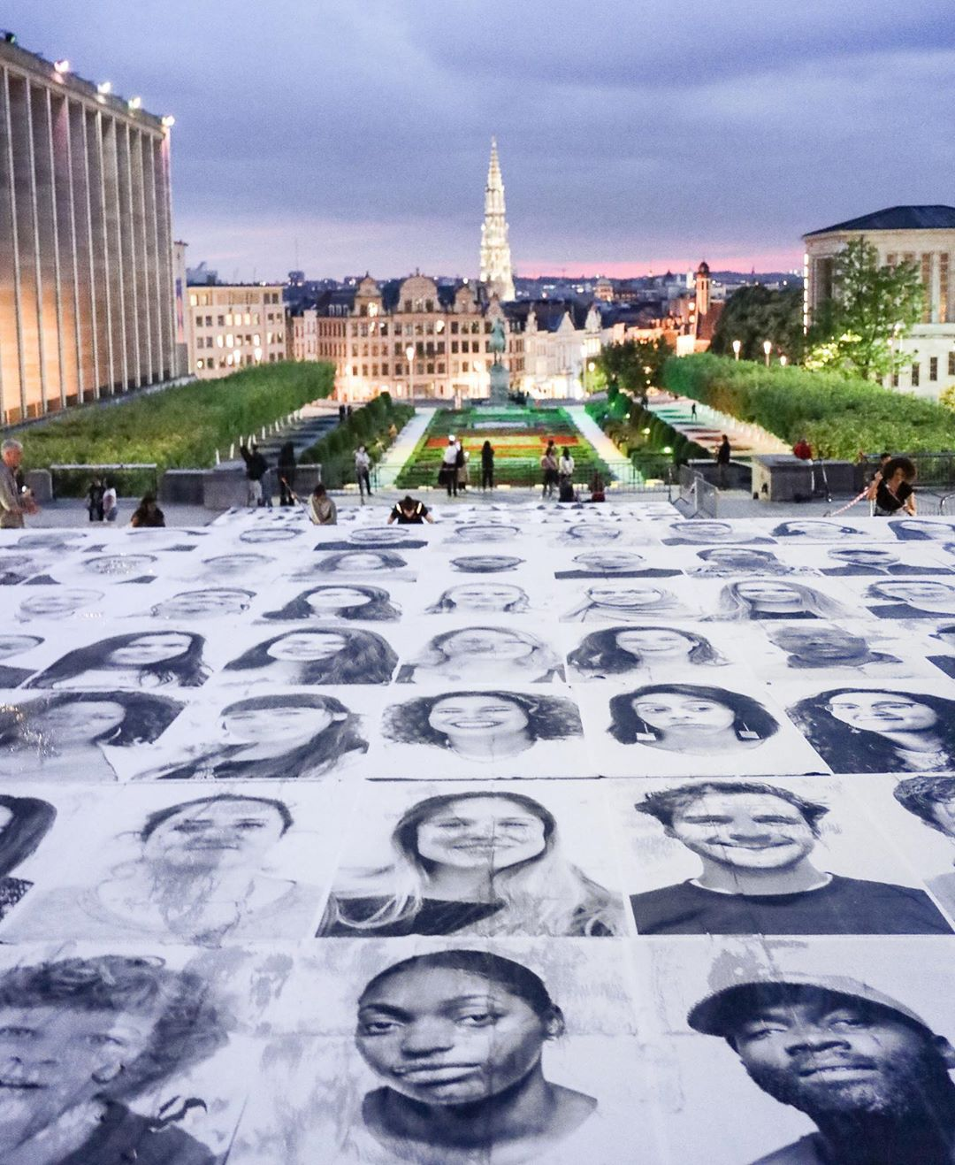 The Inside Out Project x 50 Shades of Racism, in Brussels, Belgium. Images courtesy of JR's Instagram
