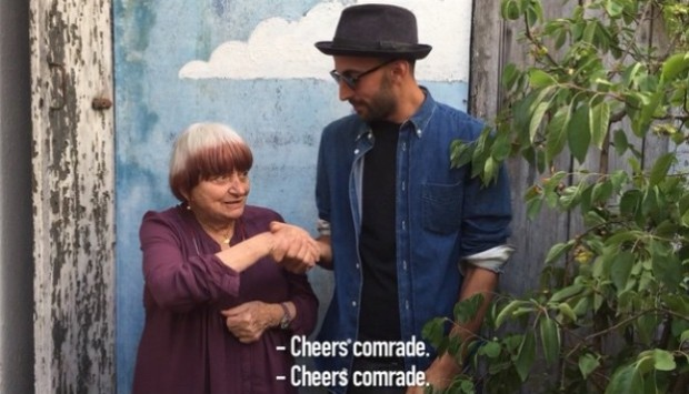 Agnes Varda and JR. Image courtesy of JR's Instagram
