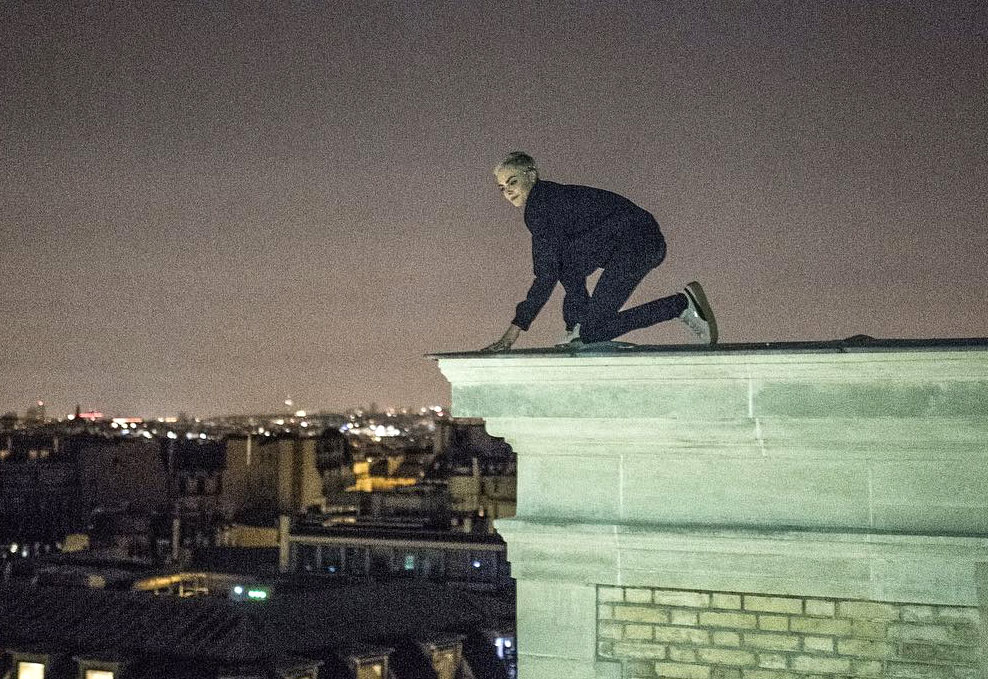 JR gives Cara Delevingne a late-night French rooftop tour