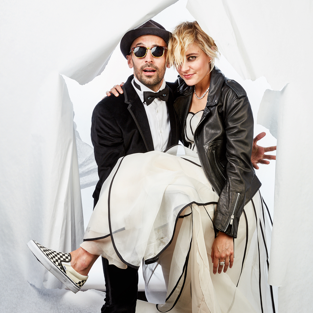 JR and Greta Gerwig at Madonna's Oscars party