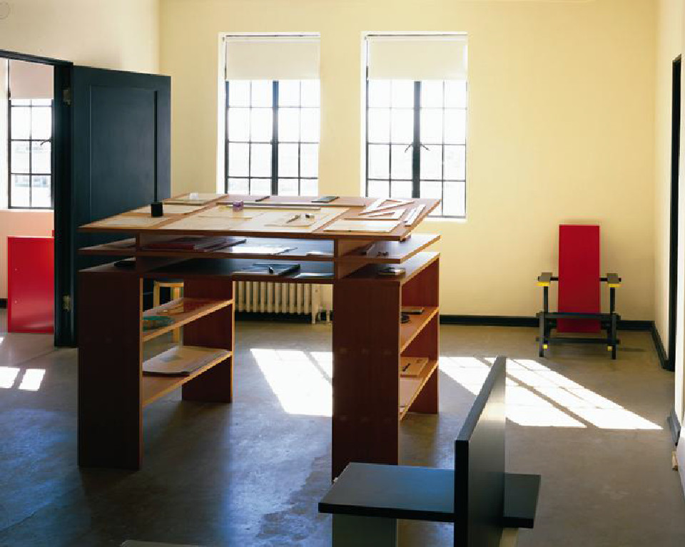 Architecture Office, 2nd Floor, Marfa Texas. Donald Judd Standing Writing  Desk. Hester