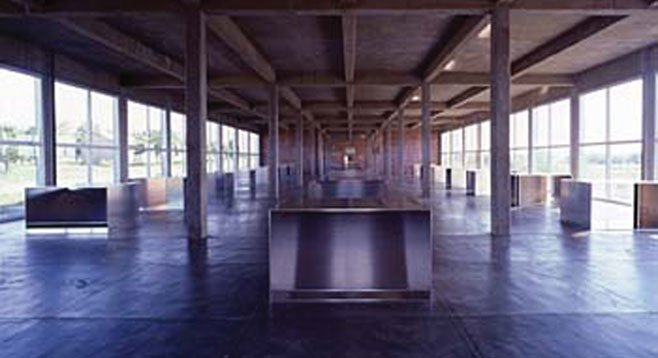100 untitled works in mill aluminium, (1982 - 86) by Donald Judd