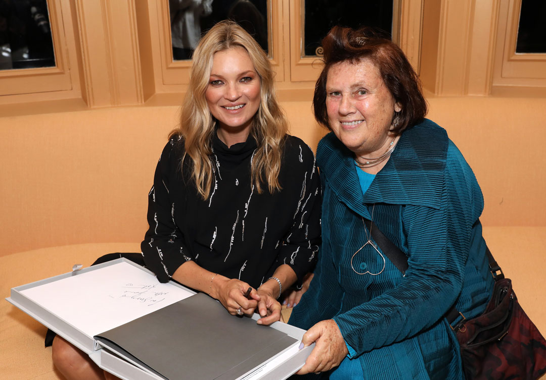 Kate Moss and Vogue International Fashion Editor Suzy Menkes at Matches, 5 Carlos Place