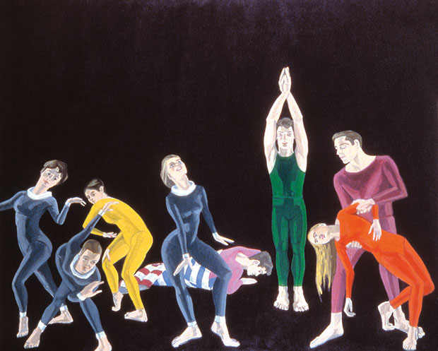 Paul Taylor Dance Company, 1963-64 - Alex Katz, Collection Bayerische Museum Munich