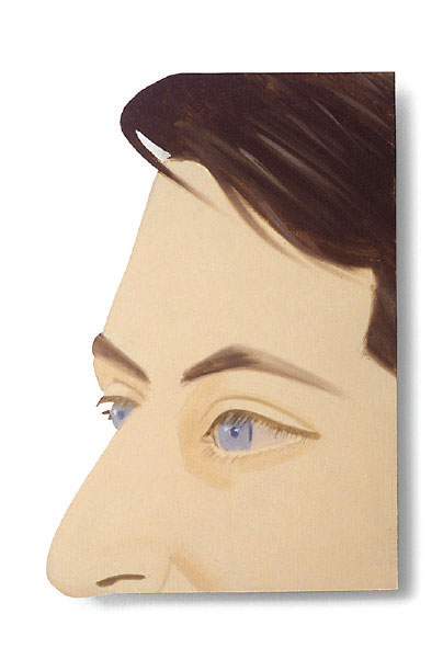 John Ashbery (1985) by Alex Katz. As reproduced in our monograph