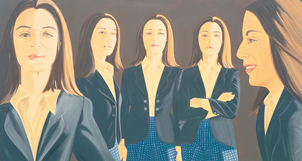 The Black Jacket (1972) by Alex Katz. From Alex Katz