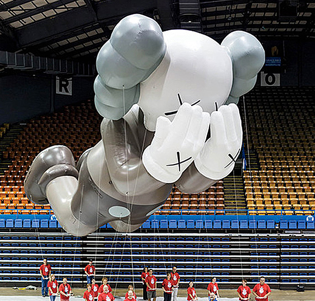KAWS' inflatable Companion. Photograph by Andrew Rowat