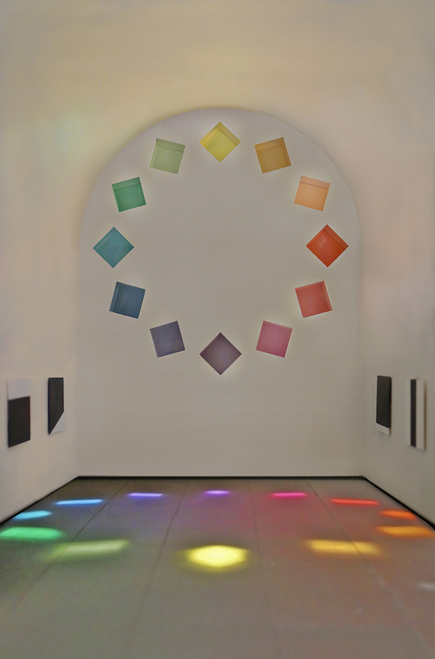 Ellsworth Kelly, Austin, 2015 (model; interior view) © 2015 Ellsworth Kelly. Image courtesy the Blanton Museum of Art